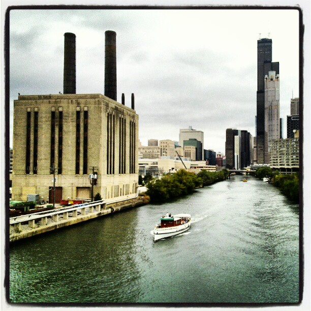 Chicago River From Roosevelt Bridge