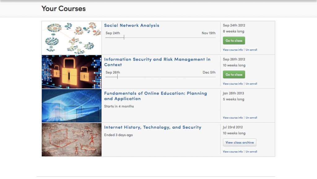 My Coursera Courses