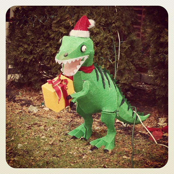 Nothing says Christmas quite as well as one of Santa's Dinosaurs