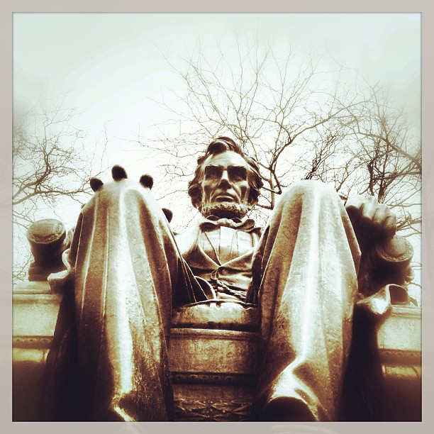 Sitting Lincoln
