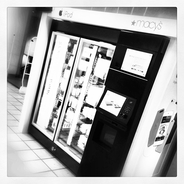Steve would have been appalled - iPad vending machine in Macy's basement