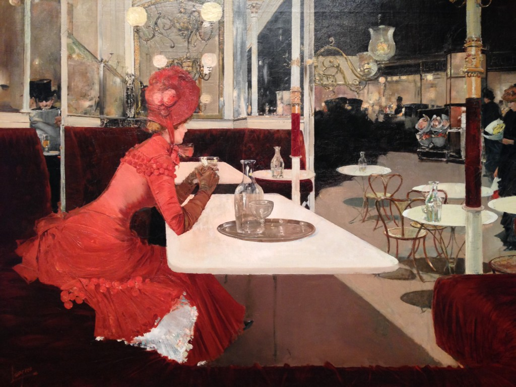 The Cafe - Fernand Lungren (1859 - 1932)