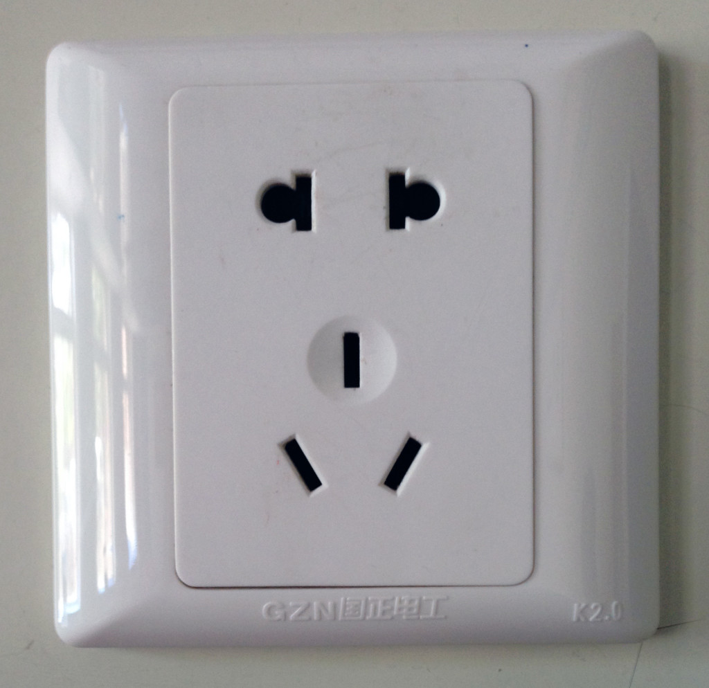 Typical Chinese Electrical Outlet