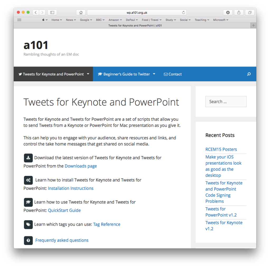 Tweets For Keynote